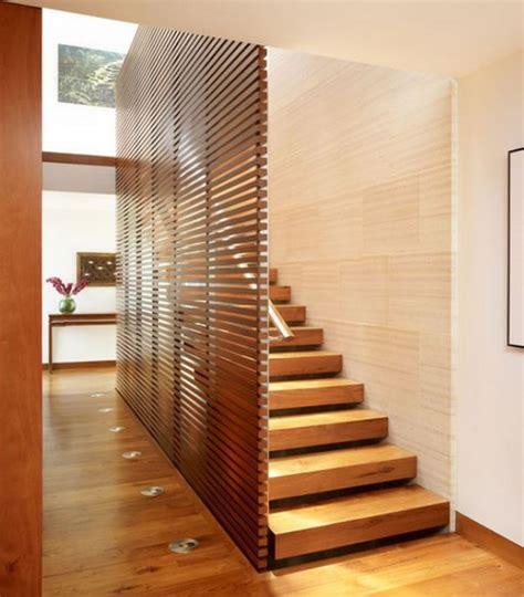model tangga kayu minimalis  modern ndik home