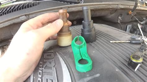 chevy truck heater hose quick disconnect removal diy youtube