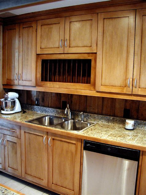 kitchen countertop edging photo of a granite tile countertop with a wood edge