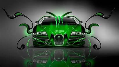 Bugatti Monster Energy Veyron Cool Drink Plastic