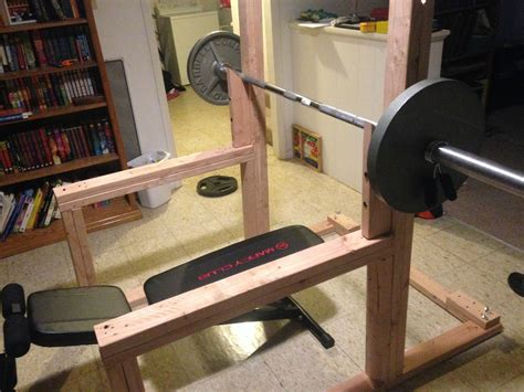 Bench Press At Home by Diy Squat Rack Search Crossfit Home
