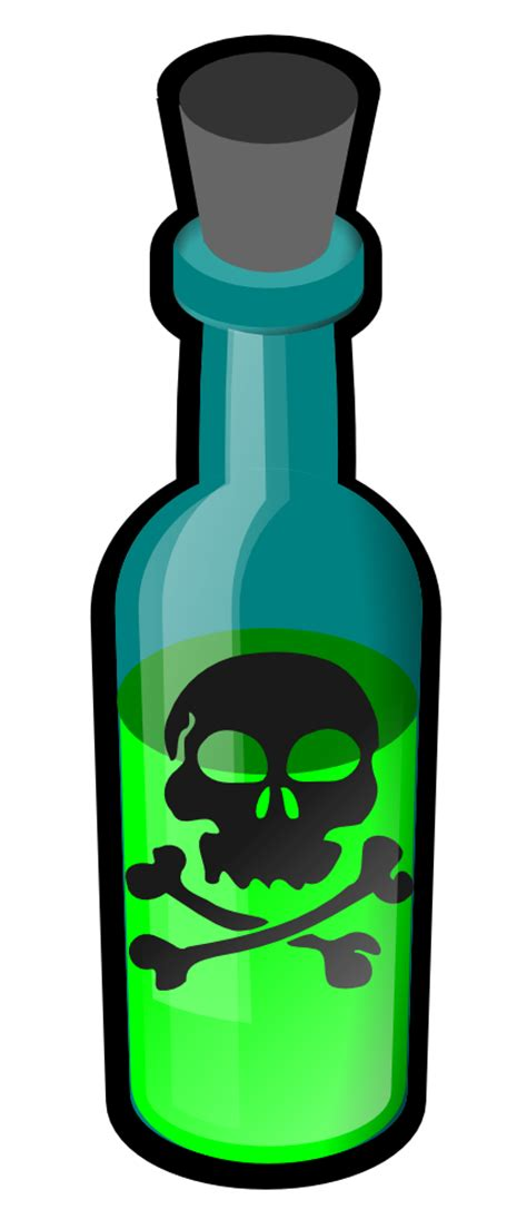 OnlineLabels Clip Art - Poison Bottle