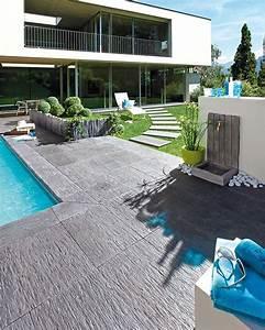 Prix Ardoise Deco Jardin : plage et margelles piscine quels mat riaux choisir ~ Premium-room.com Idées de Décoration