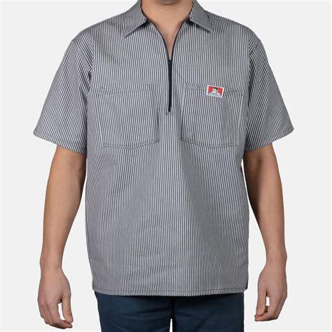 Ben Shirt sleeve stripe 1 2 zip navy ben davis clothing