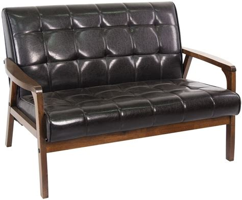 small leather settee loveseat tufted leather sofa light modern settee