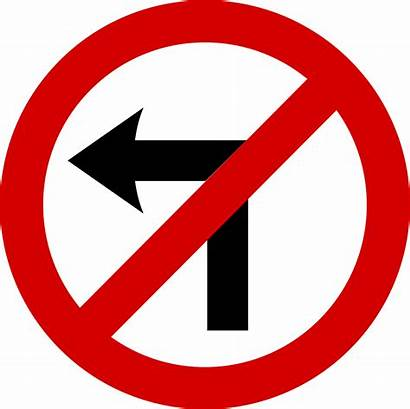 Svg Turn Left Road Mandatory Verkehrszeichen Panneau