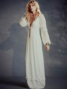 hippie bohemian wedding dresses for a romantic summer With robe longue boheme chic 2017