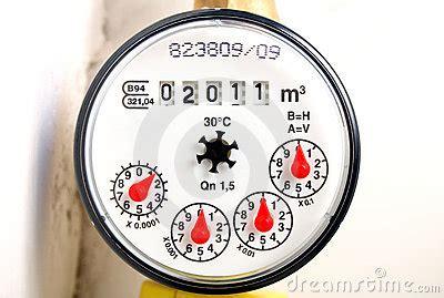 water meter stock photo image