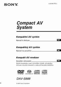 Sony Dav S888 Home Theater Download Manual For Free Now