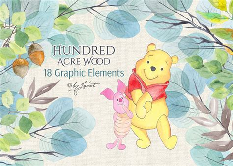 Creativemarket Hundred Acre Wood 593025