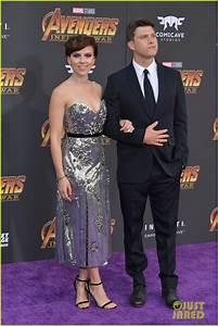 Scarlett Johansson Colin Jost Make Red Carpet Debut At