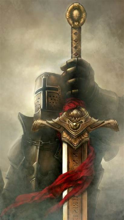 Templar Knights Knight Wallpapers Golden Crusader Sword