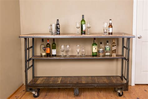 Rolling Bar by Vintage Cart Rolling Bar With Shelf Napa East