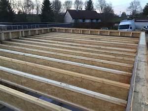 Toit En Bois : autoconstruction atelier bois ossature bois toit plat ~ Melissatoandfro.com Idées de Décoration