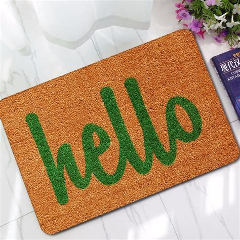 Hello Rugs For Bedrooms by Cammitever Hello Rubber Rug Floor Carpets For Living Room