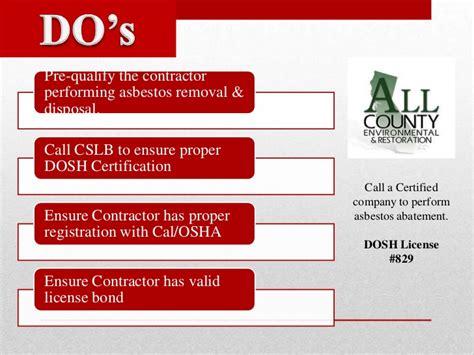 asbestos awareness  contractors introduction