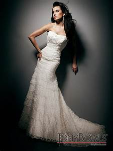 tony bowls wedding dress strapless mermaid onewedcom With tony bowls wedding dresses