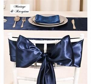 Chaise Bleu Marine : noeud de chaise mariage satin bleu marine les couleurs du mariage mariage et r ception ~ Teatrodelosmanantiales.com Idées de Décoration