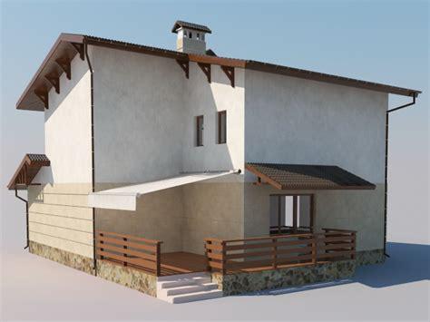 simple modern house  model ds maxobject files   modeling   cadnav