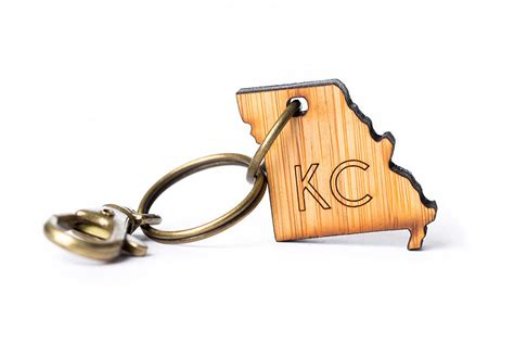 Bamboo Laser Cut Key Chains From Landlocked Kc