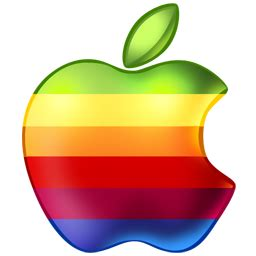 icone bureau mac icône apple arc en ciel gratuit de operating systems icons