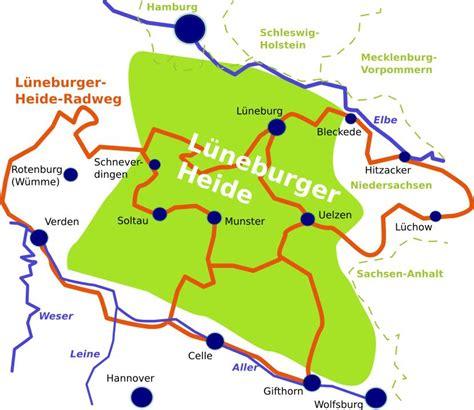 Lüneburger Heide Radweg Karte