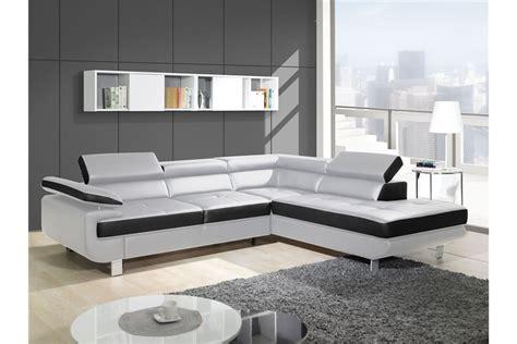 achat canape canapé design d 39 angle studio cuir pu noir canapés d