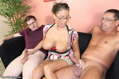 Mother Joins Teenage Double For Mmf Pink Slut Stacie Starr Rubbing Off Her Step Handsome And