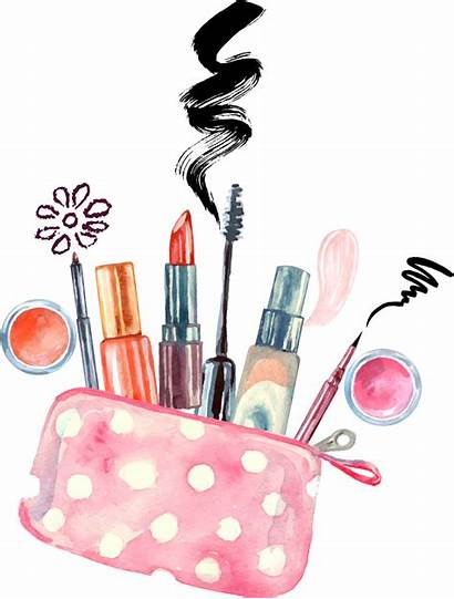 Makeup Watercolor Vector Artist Cosmetics Painting Clipart