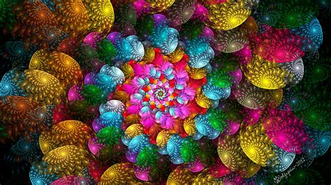 Bright colorful spiral abstract pattern wallpapers and