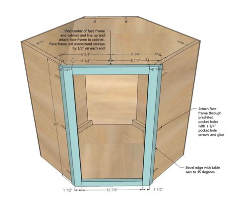 ana white build  wall kitchen corner cabinet
