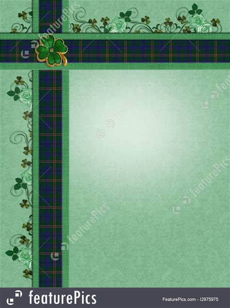 templates irish plaid borders template stock