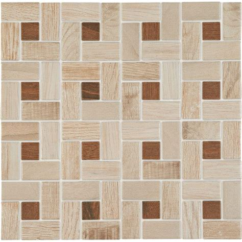 daltile parkwood beige with cherry dot 12 in x 12 in x 6