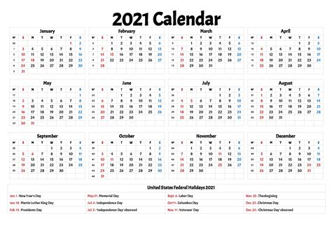 Share to facebook share to twitter share to weibo share to whatsapp share to line share to wechat. 2021 Calendars With Holidays Printable - Printable Calendar