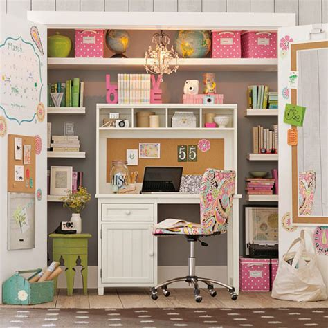 desk inside a closet 10 ideas to brings office into your closets small house