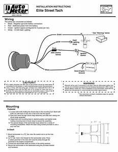 Auto Meter Tach Wiring  U2013 Car Wiring Diagram
