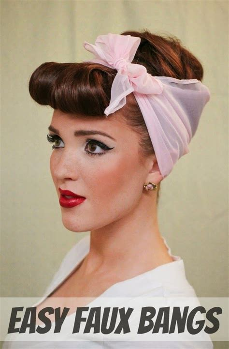 Easy 1950s Hairstyles by Pin By Hairuwear On Bangs Faux Bangs 50s Hairstyles