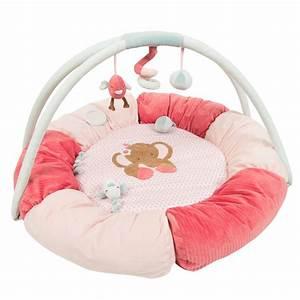 tapis pouf avec arches charlotte et rose de nattou chez With tapis chambre bébé avec livraison de fleurs a tours