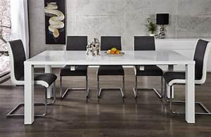 Hochglanz Tisch Weiß : esstisch wei hochglanz tisch wei l nge 120 200 cm ~ Frokenaadalensverden.com Haus und Dekorationen