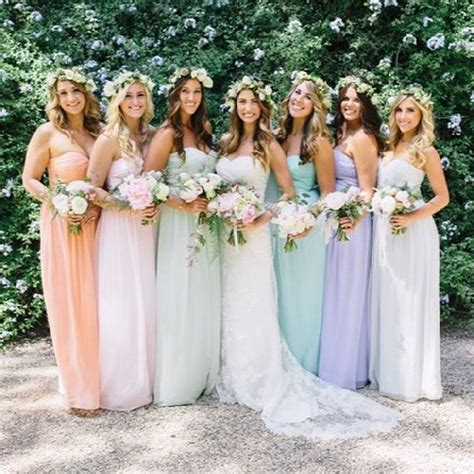 pastel color bridesmaid dresses conrad designed bridesmaid dresses for