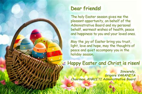 anrceti management wishes  happy easter anrceti