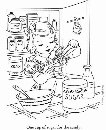 Coloring Baking Pages Winter Cookies Sheets Activities