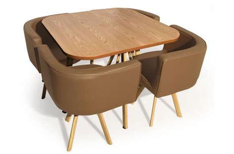 table avec chaises encastrables table avec chaises encastrables scandinaves taupe