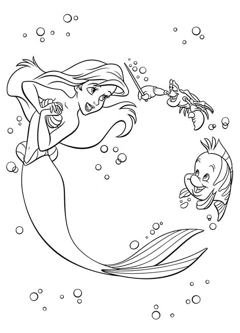 disney coloring book   disney fun board mermaid