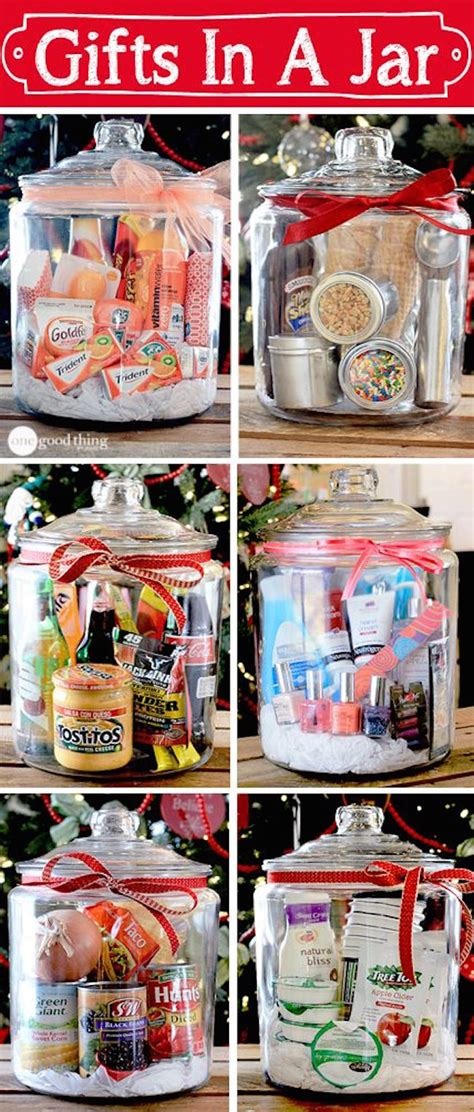 gifts in a jar simple inexpensive and fun gift