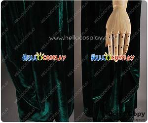 Edward Green Size Chart Harry Potter Minerva Mcgonagall Cosplay Costume Dark Green