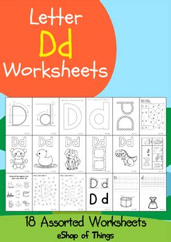 letter dd worksheets coloring tracing phonics alphabet dab