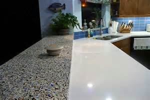 recycled glass countertops vs granite images
