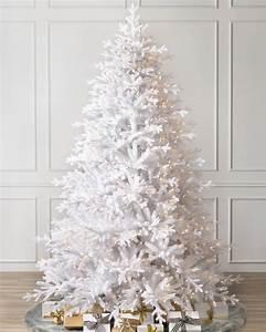Denali White Artificial Christmas Tree Balsam Hill