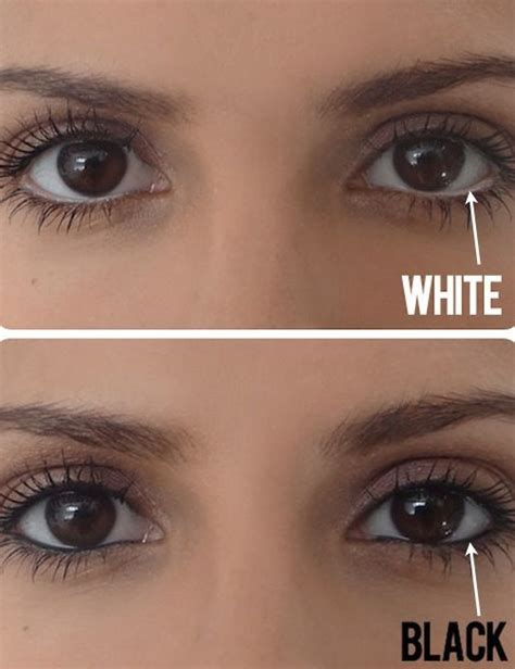 easy eye makeup tips     white eyeliner   eyes  bigger guff